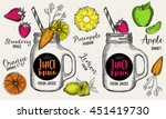 juice menu placemat drink... | Shutterstock .eps vector #451419730