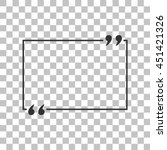 text quote sign. dark gray icon ... | Shutterstock . vector #451421326