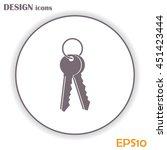 vector illustration of keys | Shutterstock .eps vector #451423444