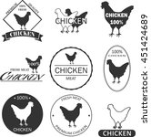 set of premium chicken meat... | Shutterstock . vector #451424689