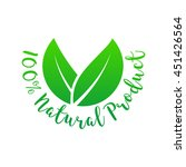 100  natural product label.... | Shutterstock .eps vector #451426564