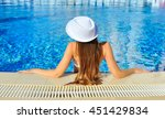 Beautiful Woman White Hat And...