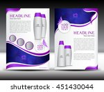 purple business brochure flyer... | Shutterstock .eps vector #451430044