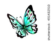 butterflies design | Shutterstock . vector #451432510