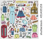 fashion illustration.london... | Shutterstock .eps vector #451435153