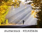 man with arms open towards... | Shutterstock . vector #451435636