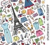 fashion illustration summer...   Shutterstock .eps vector #451436899