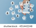 chatbot concept with instant... | Shutterstock . vector #451442248