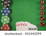 gambling chips and poker card... | Shutterstock . vector #451442599