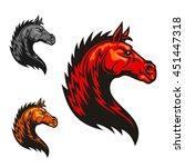powerful stallion horse for... | Shutterstock .eps vector #451447318