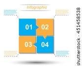info graphic design template... | Shutterstock .eps vector #451458538