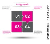 info graphic design template... | Shutterstock .eps vector #451458544
