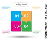 info graphic design template... | Shutterstock .eps vector #451458550