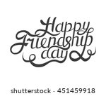happy friendship day hand drawn ... | Shutterstock .eps vector #451459918