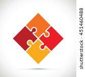 jigsaw section | Shutterstock .eps vector #451460488