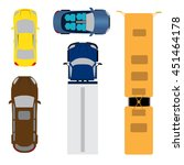 a set of five cars. coupe ... | Shutterstock . vector #451464178