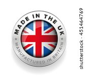 made in the uk. manufactured in ... | Shutterstock .eps vector #451464769