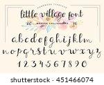 hand drawn modern calligraphy... | Shutterstock .eps vector #451466074