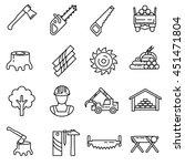 lumber industry icon set....   Shutterstock .eps vector #451471804