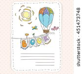 doodle page for kids and... | Shutterstock . vector #451473748