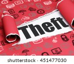 protection concept  black text... | Shutterstock . vector #451477030