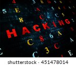 security concept  pixelated red ... | Shutterstock . vector #451478014
