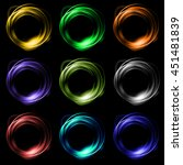 ring smoke colorful | Shutterstock . vector #451481839