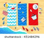summer vector illustration of... | Shutterstock .eps vector #451484296