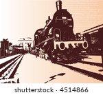 vector  old train   Shutterstock .eps vector #4514866