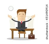 cartoon businessman.... | Shutterstock .eps vector #451490914