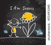 positive affirmations for kids  ... | Shutterstock .eps vector #451491040