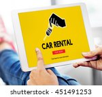 car rental vehicle... | Shutterstock . vector #451491253