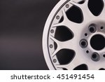 Small photo of Aluminum metal wheel rim texture. Car alloy , isolated on g
