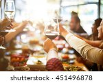 business meeting eating cheers... | Shutterstock . vector #451496878