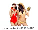 vacation. summer travel. two... | Shutterstock . vector #451504486