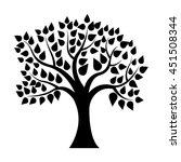 black tree silhouette 2 | Shutterstock .eps vector #451508344