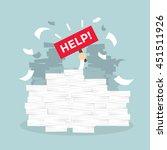 overworked businessman under a... | Shutterstock .eps vector #451511926