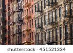 buildings along 3rd street near ... | Shutterstock . vector #451521334