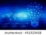 bulb future technology ... | Shutterstock . vector #451523428