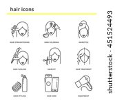 hair vector icons set ... | Shutterstock .eps vector #451524493