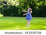 cute little girl playing in...   Shutterstock . vector #451530736