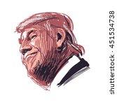 donald trump  republican... | Shutterstock .eps vector #451534738