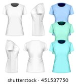 women t shirt short sleeve.... | Shutterstock .eps vector #451537750