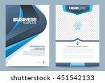 vector brochure flyer poster... | Shutterstock .eps vector #451542133