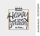happy birthday   card  sticker... | Shutterstock . vector #451542694