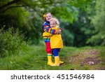 little boy and girl play in... | Shutterstock . vector #451546984