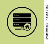 vector illustration of server... | Shutterstock .eps vector #451556458