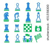 chess icon set | Shutterstock .eps vector #451558300