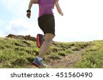 healthy young woman trail... | Shutterstock . vector #451560490