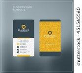 business card print template... | Shutterstock .eps vector #451565560